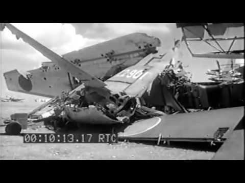 Aslito Airfield (Saipan): Captured Planes; Beach Scenes, Prisoners Work, 06/24/1944 (full)