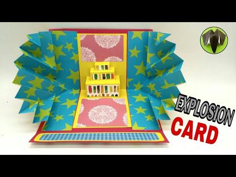 Birthday Explosion Card - DIY | Scrapbook | Handmade | Tutorial - 781