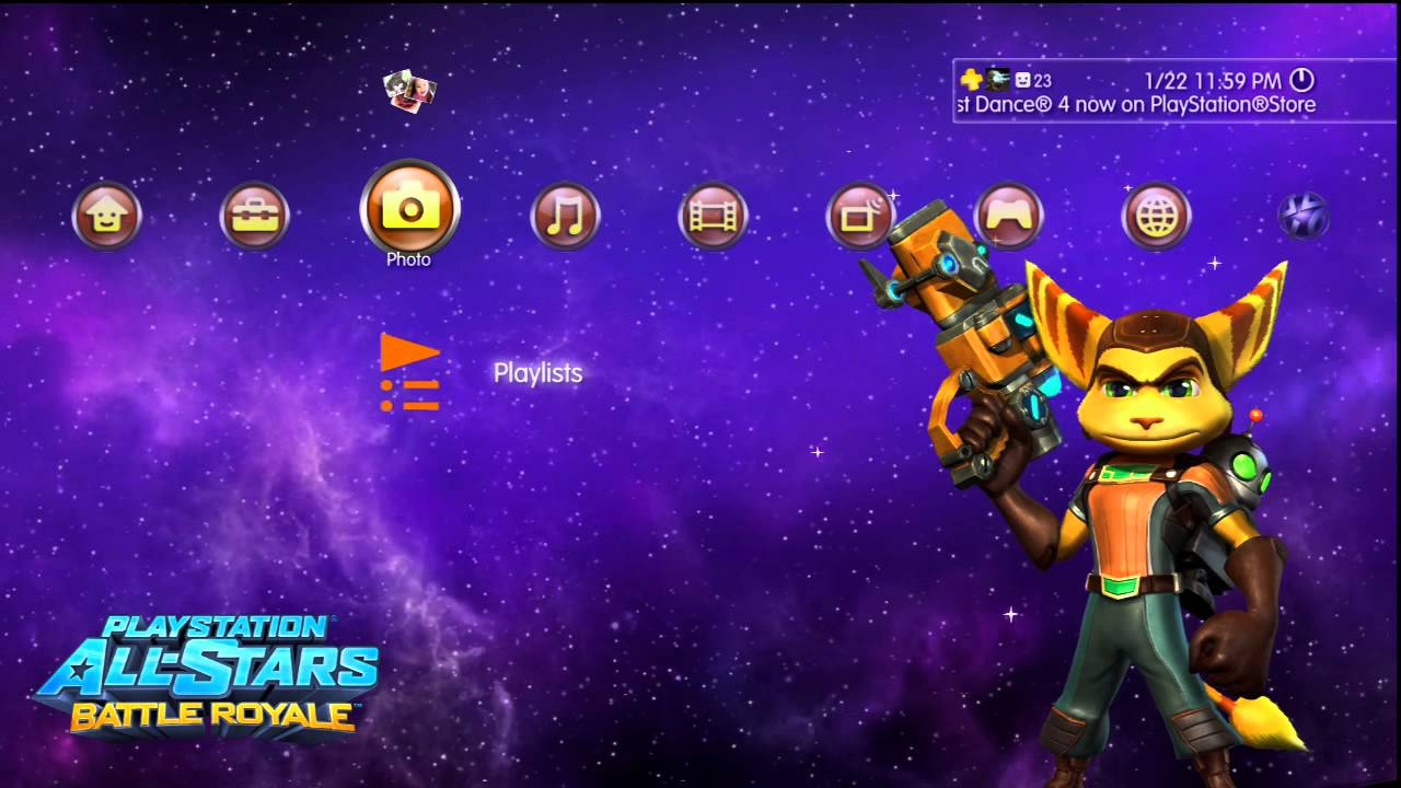 Playstation 4 theme ps3