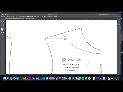 Measuring patterns in Adobe Illustrator - Digital pattern cutting