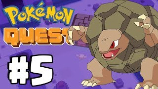 MASSIVE GOLEM BOSS BATTLE & VENUSAUR! - Pokemon Quest Gameplay  Part 5 (Switch, IOS, Android)