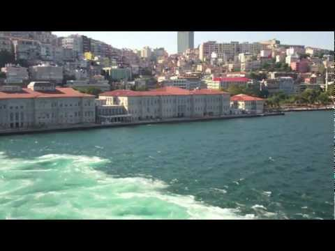 Leaving the Port of Istanbul, Views from the MSC Divina (Time Lapse) - 1st August, 2012