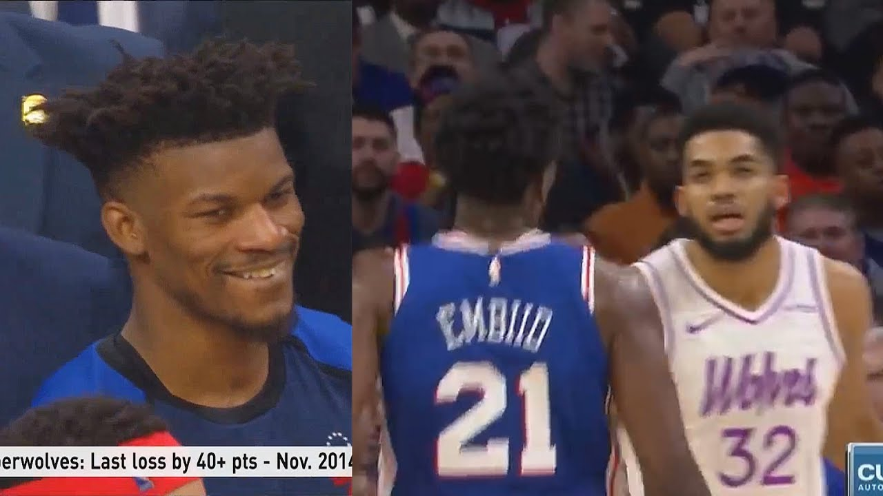The Joel Embiid vs. Karl-Anthony Towns fight is pretty funny, actually