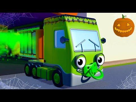 Baby Truck Halloween Song | Nursery Rhymes & Kids Songs | Gecko's Garage | Songs For Children