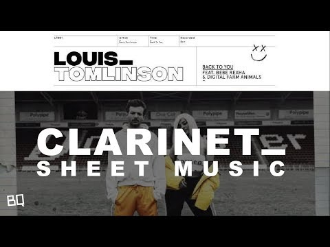 Back To You - Louis Tomlinson ft. Bebe Rexha (Clarinet & Trumpet Duet Sheet Music)