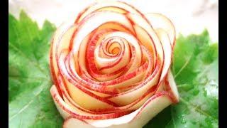 Apple Rose Flower Garnish