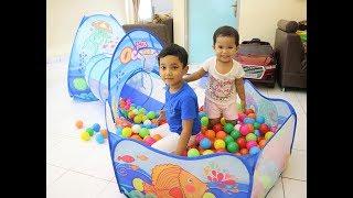 Mainan Tenda Rumah Rumahan Camping Kemping Play House Terowongan Kolam Keranjang Mandi Bola Kado Hadiah Ulang Tahun Anak Perempuan Laki Laki Murah