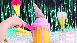 The Ultimate Melting Ice Cream Drip  Cake |Amazing Cakes| By Hooplakidz Recipes