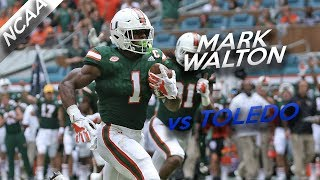 Mark Walton Highlights vs Toledo // 11 Carries for 204 Yards, 1 TD // 9.23.17