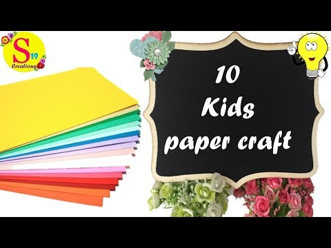 10 Amazing paper crafts | kids paper craft ideas easy | diy projects for kids easy at home