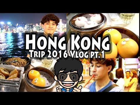 Hong Kong Vlog 2016 Part 1: Yum Cha Dim Sum, Symphony of Lights Show,  and Fruit Sago Dessert