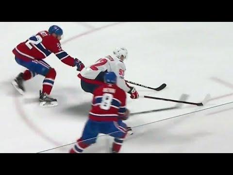 Kuznetsov darts between two defenders to score slick goal