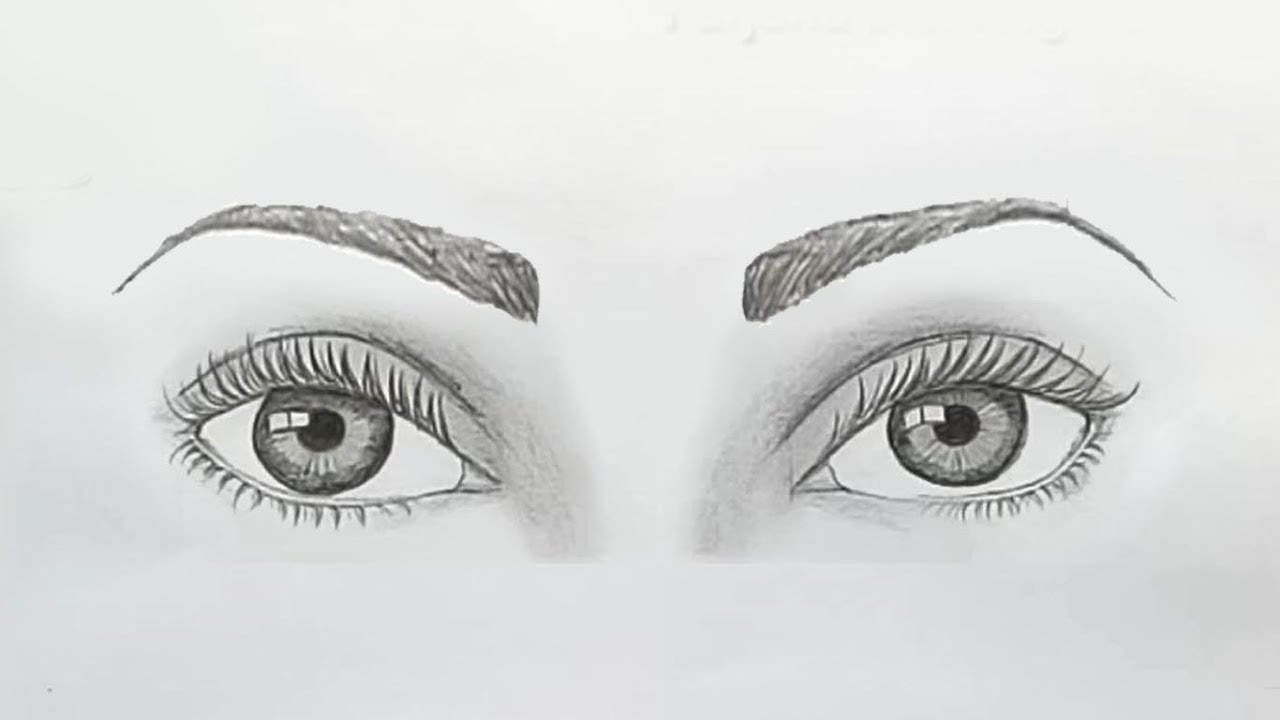 How to draw both eyes for beginners.... step by step - YouTube