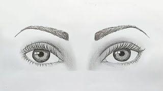 How to draw both eyes for beginners.... step by step