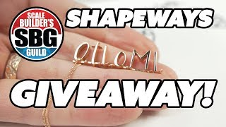 Shapeways HUGE GIVEAWAY!