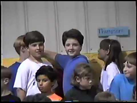 Brian at Lilburn Elementary school play 1995