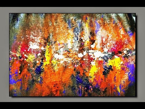 How To Make /Abstract/ Brush and Palette knife /Acrylic Abstract Painting Tutorial