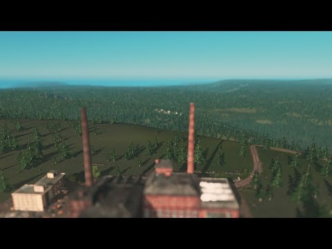 Cities: Skylines - Project Europe, Episode 2, The Textil Factory, Realistic Abandonned Factory