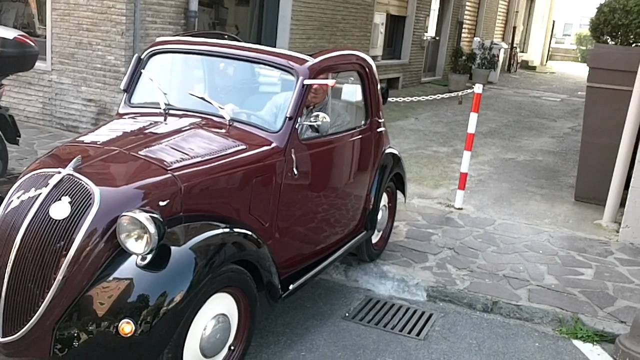fiat topolino 500 b restaurata - youtube
