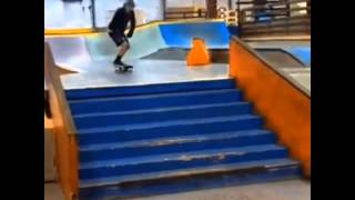 12 year old kick flips seven stairs