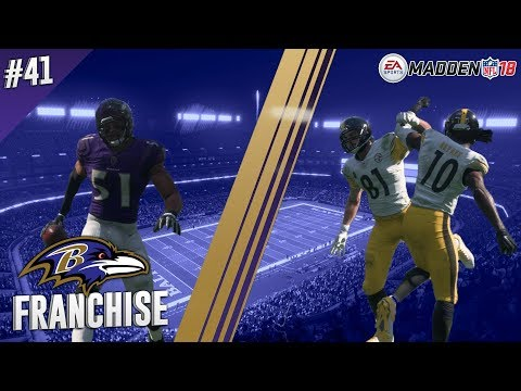 Best Rivalry in Football? | vs Steelers (S2,G10) | Madden NFL 18 Baltimore Ravens Franchise Ep. 41