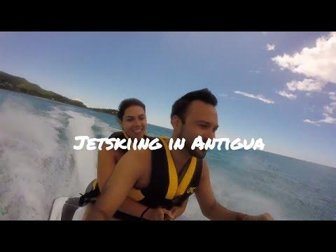 Jet Skiing Jolly Harbour in Antigua and Barbuda GoPro Hero Royal Caribbean Adventure of the Seas