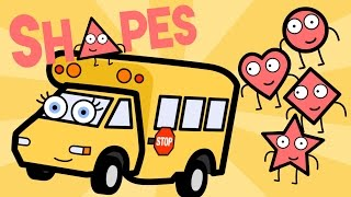 Learning Shapes Song With Betsy the School Bus - Baby, Toddler, Kindergarten Kids Learning Video