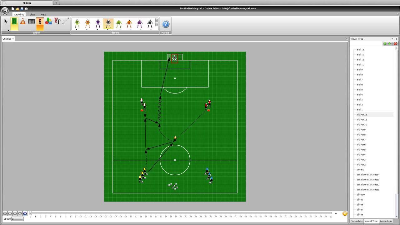 برنامج لوضع تشكيلة كرة القدم