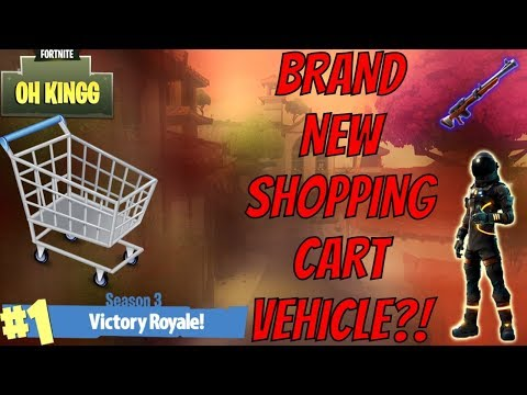 Fortnite Update: SHOPPING CART VEHICLES IN PVP + 1.2K SUBSCRIBER GIVEAWAY! (Top PS4 Player)