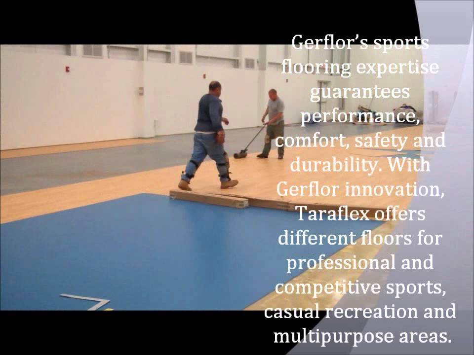taraflex sports flooring - an installationsse - youtube