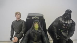 Vader Palpatine and Luke 1997 Star Wars Power of the Force Final Jedi Duel