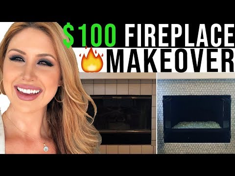 Cheap Fireplace Makeover | Quick Fireplace Transformation