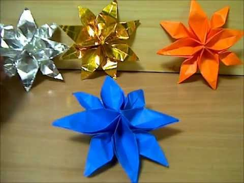 折り紙の : 折り紙の花 : youtube.com