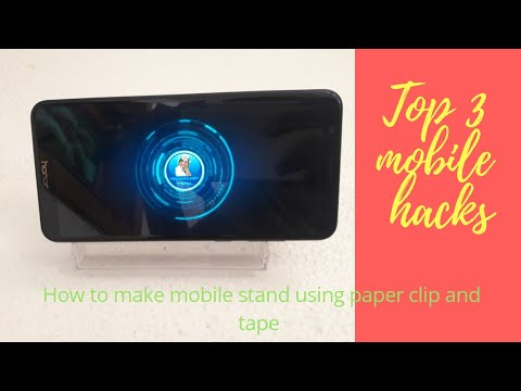 Diy mobile stand using paper clip,tape recorder caste box sim ejecter using (top 3 mobile hacks)