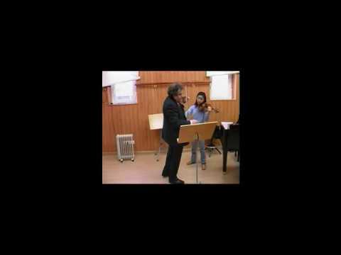 Zakhar Bron, Glazunov violin concerto, Class