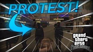 NET4GAME SEZON 4 #03 - Protest przeciw LSPD *MEGA AKCJA*