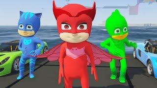 Pijamaskeliler Baykuş Kız Kertenkele ve Kedi Çocuk (GTA 5 Hikaye Modu)