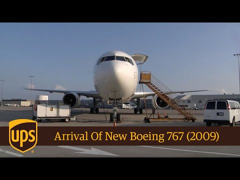 UPS Arrival of New Boeing 767