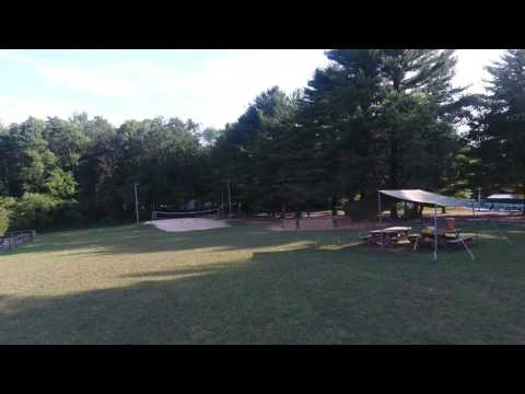 Camp Saffran from the air. July 2016. Broad Creek Memorial Scout Reservation