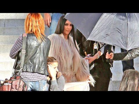 Kim Kardashian Sexy In Daring, Sheer Ensemble Filming 'Ocean's 8' In L.A.