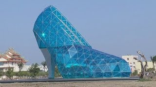 Giant Glass Cinderella Shoe Church Built In Asia