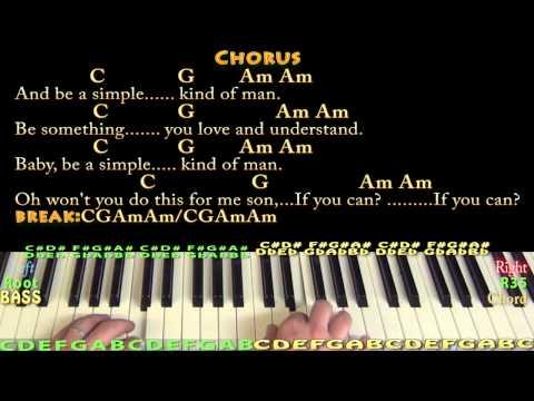 Simple Man (Lynyrd Skynyrd) Piano Cover Lesson with Chords/Lyrics