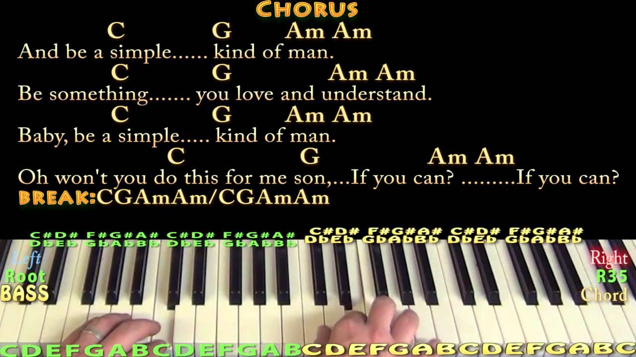 Simple Man Lynyrd Skynyrd Piano Cover Lesson With Chordslyrics