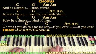 Video Simple Man (Lynyrd Skynyrd) Piano Cover Lesson with Chords/Lyrics download MP3, 3GP, MP4, WEBM, AVI, FLV Juni 2018