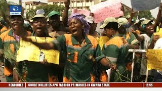 Lagos Sanitation: Workers Protest Over Poor Working Conditions, Delayed Salaries