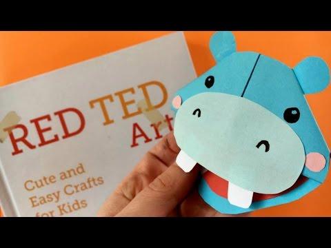 Easy Hippo Bookmark DIY - Easy Corner Bookmark How Tos - Make a Zoo