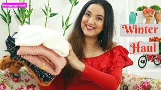 Newchic Winter शॉपिंग Try on Haul | Sweaters Jackets Home Decor etc | Perkymegs Hindi