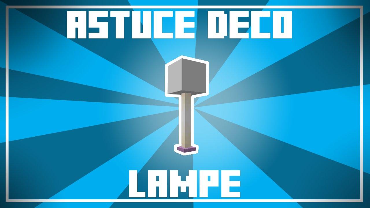 Astuce Déco Un Joli Design De Lampe Dans Minecraft Qui éclaire