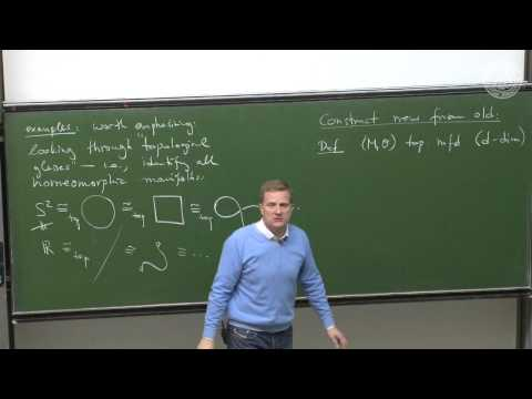 Topological manifolds and manifold bundles- Lec 06 - Frederic Schuller