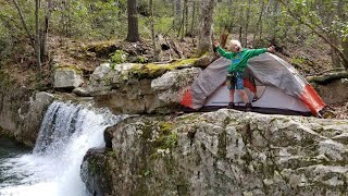 Back Country Camping & Hiking - Searching for Hidden Waterfall & Abandoned Mine